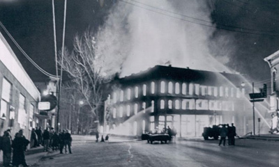 The Franklin House (Hotel) Fire