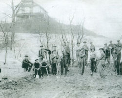 Construction of the City of Montague Town Hill - circa 1900
